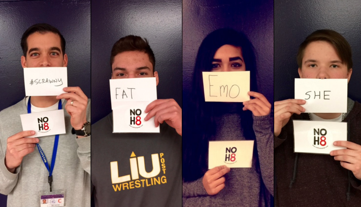 The NOH8 campaign makes its way to Massapequa High School