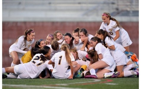 Girls soccer wins third consecutive state championship