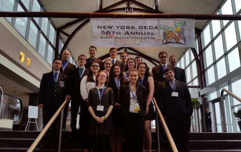 7 DECA members headed towards nationals.