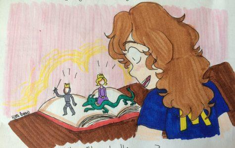 Crack open a book full of imagination.