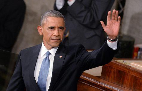 Obama waves goodbye to his presidency.