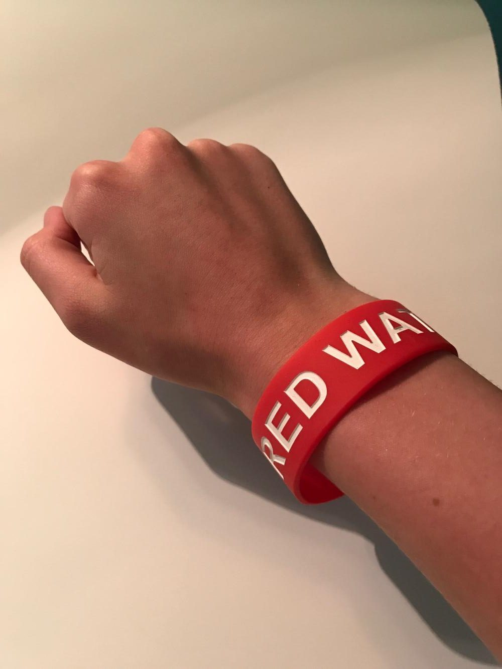 Red alert for safety: Bracelets identify Red Watch Band members